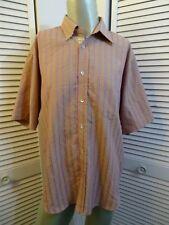 Mens BUGATCHI UOMO Micro Check Camp Lounge Casual Shirt PINK PURPLE L LG Large