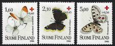 FINLAND :  1986 Red Cross - Butterflies set SG1102-4 MNH