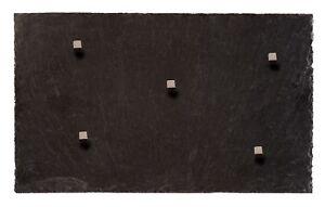 Magnettafel aus Schiefer Gestein + 5 Neodym Magnete 50*30 cm Magnetwand Pinnwand