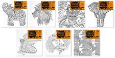 Sonderangebot! 7 Tiermotiv Leinwandrahmen zum ausmalen für Stifte Marker Farben