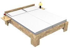 Massivholz Bett Echtholz Kerneiche 140x220 Fuß I Doppelbett Gästebett Senioren