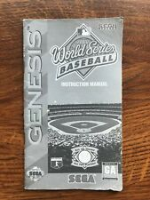 World Series Baseball Sega Genesis Game Instruction Manual Only