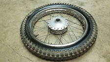 "1974 HONDA XL175 XL 175 SCRAMBLER 19"" FRONT WHEEL RIM TIRE OEM CHROME #1"