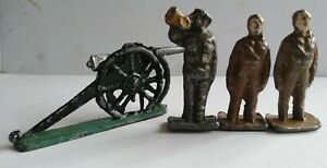 Early Lead Soldiers (Johillco?) And Cannon ww1