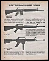 1987 COLT AR-15 Sporter II AR-15A2 HBAR Rifle AR-15 9mm Carbine PRINT AD