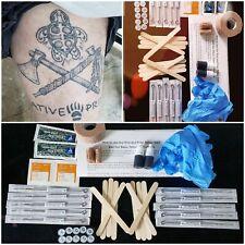 Hand Poke Tattoo Kit, Pick and Poke tattoo kit. Largest DIY Tattoo kit. Free Ins