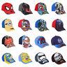 Boys Baseball Cap Summer Sun Hat Star Wars Minions Spider-Man Age 2-10 Official