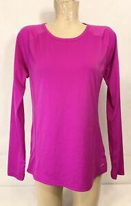 "Champion DuoDry Pink Athletic Shirt Top L Large 19.5"" Long Sleeve Gym Yoga"