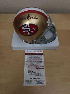 John Brodie  Autographed San Francisco 49ers Mini Helmet JSA/COA 2