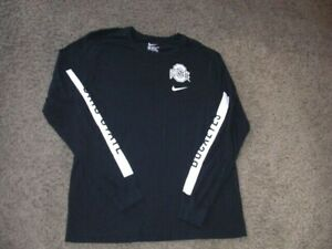 OHIO STATE BUCKEYES Nike black athletic long sleeve shirt men's XL