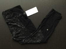 NWT Lululemon TRAIL BOUND 7/8 Tight STAR Crushed COAL Black (Size 12)