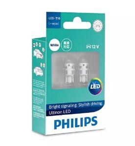 Philips W5W Ultinon LED Indicator & Signalling Bulb Pair 12V 8 Year Lifespan