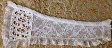 A39 Antique Vtg Lace Trim Chemical Salvage Prim Sew Doll Costume Fragment Blythe