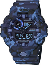 Casio G-Shock Navy Blue Camouflage Resin Band GA700CM-2A GA-700CM-2A