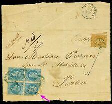 1878 Prince Carol,Bucharest I,Bucuresti I,TIRGU-NEAMT,Romania,10 B.x4+5 B.,cover