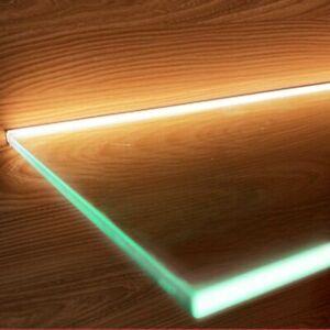 Cabinet Layer LED Light Splint Clip Lamp Aluminum Strip Glass Shelf Sideboard