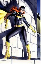 2014 COMIKAZE EXPO BATGIRL ART PRINT SIGNED BY MIKE MAYHEW 10 7/8 x 16 7/8