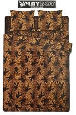 Set Lenzuola Playboy Bunny Leopard Nero letto Singolo Maxi