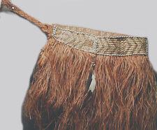 TEXTILE ASMAT GRASS SKIRT ART NATIVE CLOTHING RAFFIA CACHE SEX NEW GUINEA ETHNIX