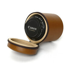 Zenus Lens Vintage Leather Carrying Protect Zipup Case For Canon EF 50mm F/1.4