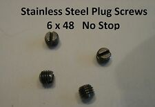 Winchester 70 & Remington 700 6-48 Plug Screws - Stainless Steel - NO STOP