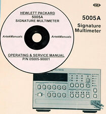 HP 5005A Signature Multimeter Operating & Servcie Manau