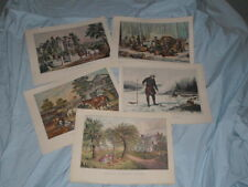 """Collection of Five Currier & Ives American Scene Prints 15"""" x 12"""""""