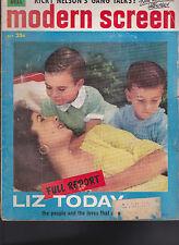 Modern Screen Magazine Liz Taylor Ricky Nelson Paul Anka October 1958