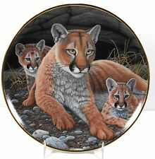 Mountain Lioness and Cubs by Michael Matherly Porcelain Mint Pre-Owned     (416)