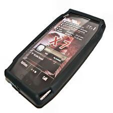 Silikon TPU Handy Hülle Cover Case in Schwarz für Nokia X7 + Displayschutzfolie