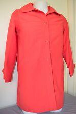 Beatnik Hippie Mod Union Womens 11/12 Red Pea Coat Trench Jacket Usa Vtg 50s 60s