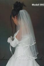 Brautschleier Schleier zur Hochzeit, kurz lang weiss ivory creme champagner neu