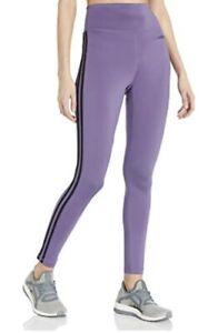 Women's Adidas Designed to Move 3-Stripe High-Waisted Leggings_Purple/Black_NWT