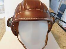Steampunk Leather Aviator Helmet Hand Stitched Cosplay, Costume,Vintage, Pilot