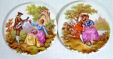 "Vintage Fragonard Tiles Coasters 3.5"" Victorian Scenes Lute Germany Man Woman"
