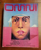 Omni Magazine Vintage Science Fiction November 1979 UFO Fragments