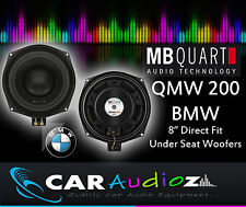 "MB Quart qmw200 BMW 20cm 8 ""CUSTOM FIT Bass Altoparlanti Auto per BMW 1 3 5 Serie X1"