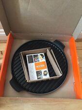 Le Creuset Cast Iron Round Giant Grill Pan 32cm- Cerise (BNIB)