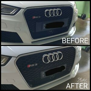Front Number plate brackets to suit Audi RS3 upto 2020