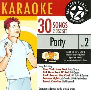 Karaoke: Party, Vol. 2 by All Star Karaoke (CD, 2007, 2 Discs, Audio Stream...21