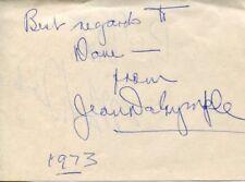 Jean Dalrymple Broadway Producer Tony Award Nominee Actress Signed Autograph