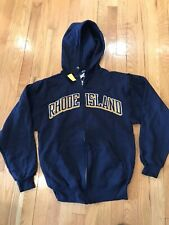 Men's Rhode Island University Zippered Hoody-Small -New
