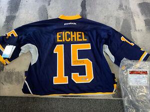 Jack Eichel Reebok Signed Jersey With COA Frozen Pond!!