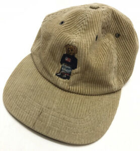 Vintage Polo Ralph Lauren Teddy Bear Hat Corduroy