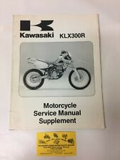 Used 1997 Kawasaki Klx300R Oem Motorcycle Service Manual 99924-1200-51 (Fits: Kawasaki)