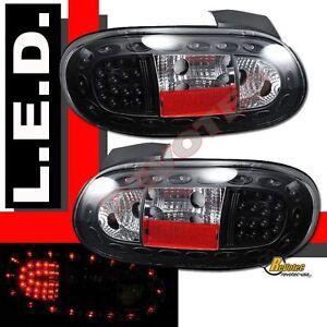1999-2005 Mazda Miata MX-5 MX5 LED Tail Lights Black 1 Pair 00 01 02 03 04