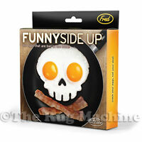 FUNNY SIDE UP - Skull Silicone Egg Mould Art Fried Breakfast Halloween Scary NEW