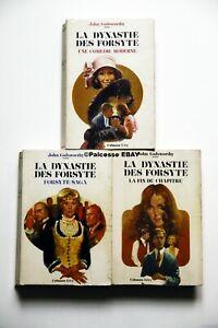 La Dynastie des Forsyte John Galsworthy 3 volumes Calmann-Levy 70/71 Ex-Libris