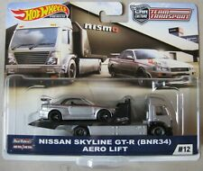 Hot Wheels Team Transporter #12 NISSAN SKYLINE GT-R ( BNR34 ) AERO LIFT rollback