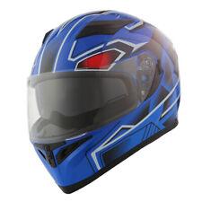 1Storm Motorcycle Full Face Dual Visor Helmet Inner Sun Visor Shield  Blue